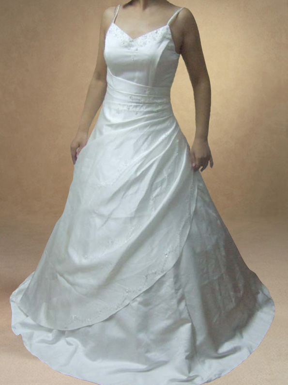 Bespoke White/Ivory Bridal Wedding Ball Gown Dress